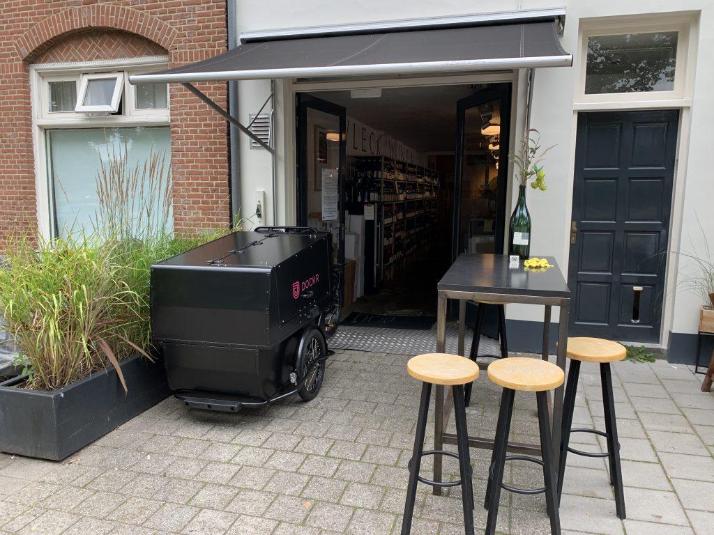DOCKR Cargo Cycling Centurion bij Vleck Wijnen Utrecht